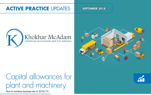 Capital Allowances - September 2018